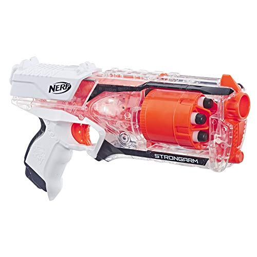 NERF Strongarm N-Strike Elite Toy Blaster with Rotating Barrel, Slam Fire, and 6 Official Elite Darts for Kids, Teens, and Adults (Amazon Exclusive)