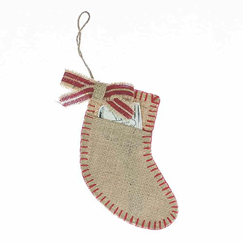 mud pie burlap stocking - 4