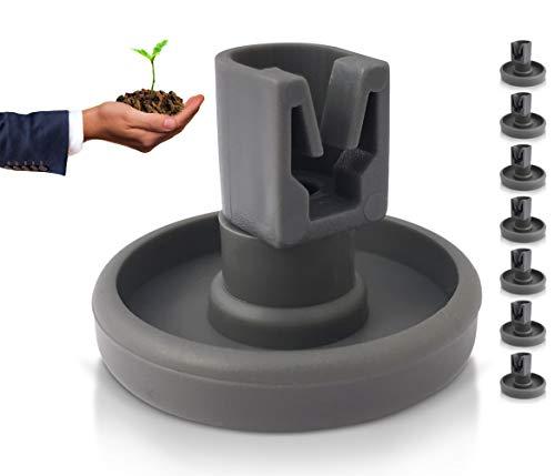 Geschirrspüler Unterkorb-Rollen: 8 Stück Korbrollen für die Spülmaschine - Ersatzteile geeignet für AEG, Privileg, Zanussi, Juno, Electrolux, Ikea etc. + ein gepflanzter Baum