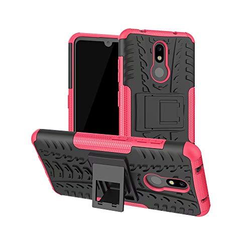 Custodia per Huawei P Smart 2021 / Huawei Y7a, design 2 in 1, resistente, a doppio strato, antiurto, protezione completa, con cavalletto per Huawei P Smart 2021 / Huawei Y7a, rosso caldo