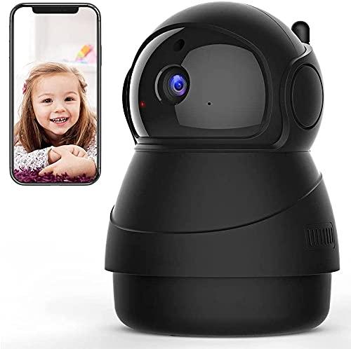 Caméra de Surveillance WiFi, Caméra IP WiFi Intérieur et Suivi de Mouvement, détection du Son, Audio bidirectionnel, panoramique, Inclinaison, Zoom