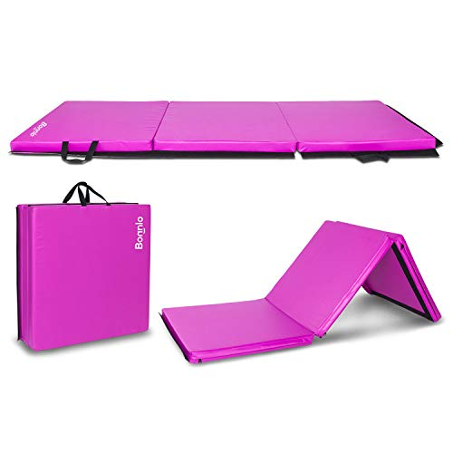 Bonnlo 6' Folding Tri-fold Gymnastics Gym Exercise Aerobics...
