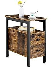 Yaheetech bijzettafel, nachtkastje, eenvoudig te monteren, salontafel met laden, salontafel in industrieel design, stabiel, ruimtebesparend, woonkamer, slaapkamer, vintage