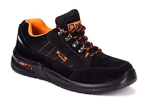 Botas para Hombre De Seguridad Puntera De Acero Zapatos De Trabajo Senderismo Plantilla De Protección Unisex-Adulto S1P SRC CE Aprobado Black Hammer 9952 Black Hammer (45 EU)