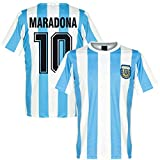 Juyuntong Tribute to Diego Maradona # 10 Vintage Argentina Home Soccer Jersey Camiseta Conmemorativa Copa del Mundo 1986 Retro México - Bye God'S Left Hand (M)