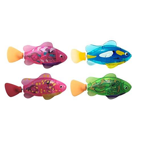 mlloaayo 4PCS Electric Swimming Fish Toy Wasseraktivierter Roboter für Badewanne Wassertank Geschenk für Kinder