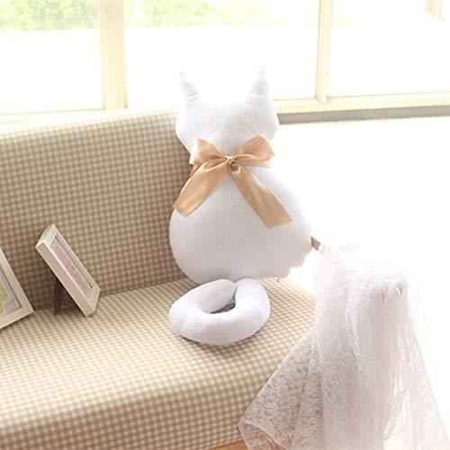 N / A Bonita Sombra Trasera Gato Asiento sofá Almohada cojín Moda Animal de Peluche Almohada de Dibujos Animados Grandes Juguetes Regalo hogar Decro 75cm