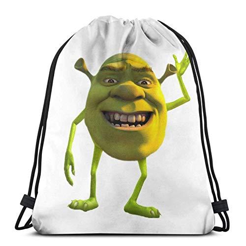 WH-CLA Drawstring Bags Shrek Movie Script Print Casual Storage Cinch Bags Beach Bag Drawstring Backpacks Outdoor Drawstring Bags Lightweight Women Men Unique For Yoga Sport Shopping Gym