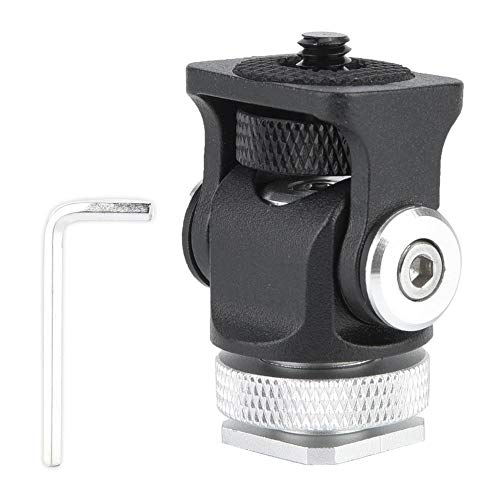Adaptador de Montaje en Zapata Ajustable en Miniatura Soporte para Monitor de aleación con Tornillo de 1/4