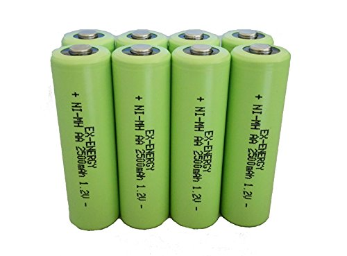 LED Flashlights Torch WolfonFire 4 Pcs NCR18650B Flat Top battery 3400mah Rechargeable Battery 3.7V for Toys and Headlamp