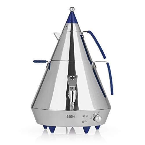 BEEM SAMOWAR Pyramid A4-4 l | Teekocher elektrisch | 2500 W | Edelstahl | 4 Liter Wasserbehälter | 1 Liter Teekanne | Privat, Hotel, Gastro geeignet