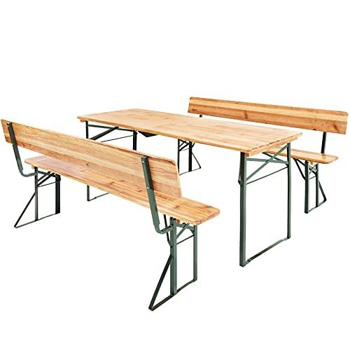TecTake 800424 Set da Birreria, Tavolo Alto e Panche, Richiudibile Bar Giardino Birra - Different Models (Tipo 4 | No. 402503)