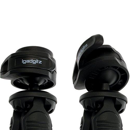 iGadgitz U4330 PT310 Kompaktes Dreibeiniges Mini-Tischstativ und Griff Stabilisator Kompatibel mit Digitalkamera, DSLR und Videokamera - Schwarz