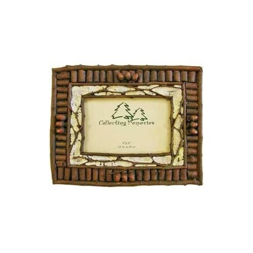 Amazoncom Rustic Twig Birch W Mini Acorns Photo Frame Holds