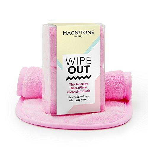 Magnitone London WipeOut! Microvezel reinigingsdoekjes voor gezichtsreiniging. Packung mit 2 roze