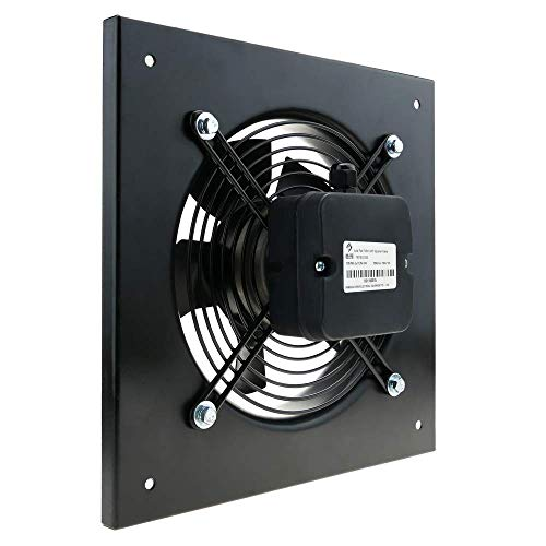 PrimeMatik - Extractor de Aire de Pared de 300 mm para ventilación Industrial 2550 RPM Cuadrado 430x430x64 mm