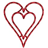 IMPACT 17' Lighted Valentine's Day Double Heart Window Silhouette Decoration