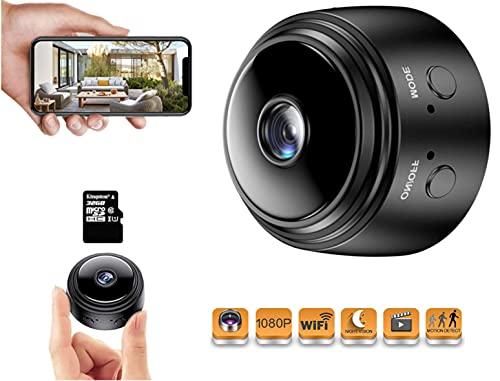 Mini Cámara Espía Oculta | Camara WiFi Full HD 1080p | con Detección de Movimiento | Mini Camara de Seguridad Portátil |...