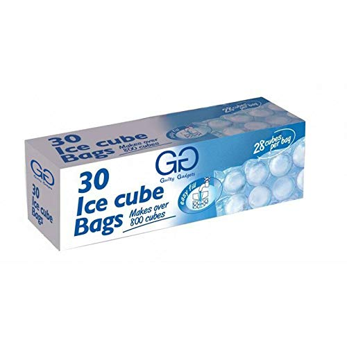 Guilty Gadgets - Bolsas para cubitos de hielo (30 bolsas de 840 cubitos de hielo, 28 cubos por bolsa