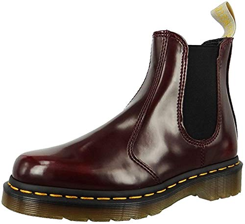 Dr. Martens Unisex-Erwachsene Vegan 2976 Chelsea Boots, Rot (Cherry Red Cambridge Brush 600), 38 EU