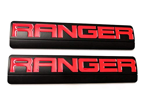 2pcs Ranger Emblems, 3D Badge Fender Replacement for F150 F250 2006-2011 Black/Red