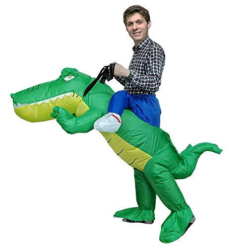 JJAIR Inflable Blow Up Adult cocodrilo Fiesta de Terror de Halloween Disfraz...