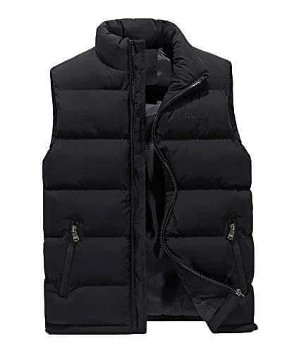 Hombre Invierno Calor Chalecos Sin Mangas De Plumas Chaquetas Acolchado Cazadoras Negro 4XL