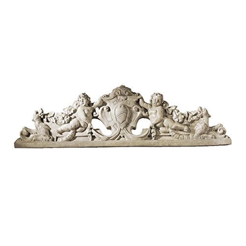 Design Toscano EU31668 Devonshire Sculptural Wall Pediment,antique stone