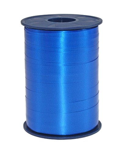 C.E. Pattberg - Rotolo di nastro da pacchi arricciabile, America, 10 mm, 250 m, colore azzurro