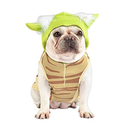 Star Wars Yoda Costume for Dogs, Large (L) | Hooded and Comfortable Green Yoda Dog Costumes for All Dogs | Dog Halloween Star Wars Dog Costume for Large Dogs | See Sizing Chart for More Info