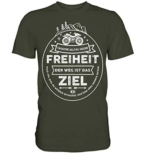 GREG PINE Tausche Alltag gegen Freiheit Quad ATV Off-Road All Terrain Vehicle Geländefahrzeug Motiv T-Shirt