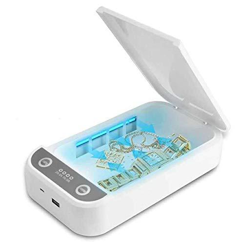 QFXFL UV Sanitizer Box, Portable Petit Téléphone Stérilisateur pour Clés Bijoux Brosse À Dents Et Tous Les Petits Articles XD72