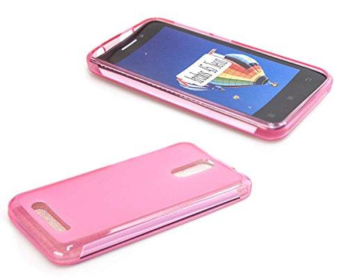 caseroxx TPU-Hülle & Bildschirmschutzfolie für Archos 45 Neon, Set (TPU-Hülle in pink)