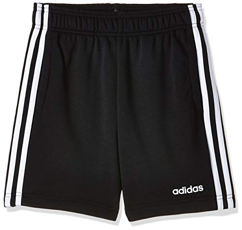 adidas Jungen Shorts Essentials 3-Streifen Knit, Black/White, 164, DV1796