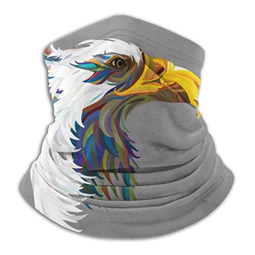 Resumen Eagle Unisex Adulto Cuello Polaín Máscara A prueba de viento Máscara deportiva Máscara de medio pasamontañas Bandana