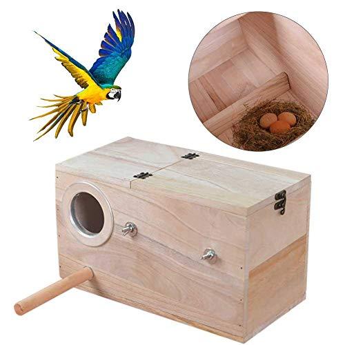 libelyef Nido De Cria para Aves Caja De Cría para Pájaros Caja De Apareamiento para Ratas Hamster Loros Guacamayos Grises Periquitos Periquitos Periquitos Cockatiels