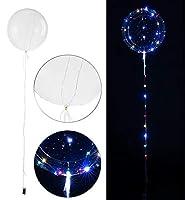 Dekorativ für Feiern, Hochzeiten, Geburtstage u.v.m. • Sorgt für festliche Lichtstimmung • Lichterkette auch separat verwendbar Transparenter Luftballon zum Befüllen mit Helium, Luft & Co. • Wiederverwendbar • Maße Ballon: Ø ca. 30 cm, Lichterkette: ...