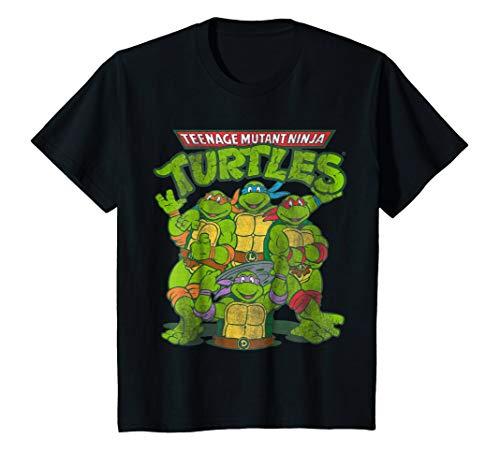 Kids Distressed TMNT Group T-Shirt