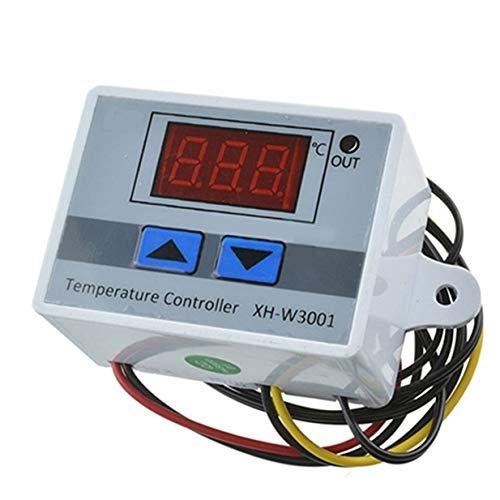 Timetided Interruptor de Temperatura del termostato Digital Xh-W3001 Interruptor de Control de Temperatura del Controlador de Temperatura del microordenador
