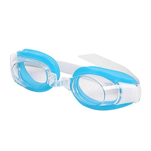 Yowablo HD Plain Light wasserdichte Anti-Fog-Schwimmbrille für Männer und Frauen (1Stck,Hellblau)