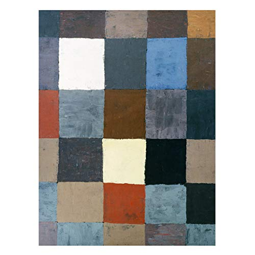 Bilderwelten Magnettafel - Paul Klee - Farbtafel - Memoboard Metall Pinnwand 40 x 30cm