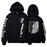 Unisex Anime Attack on Titan Ackerman Levi Printed Cotton Cozy Couples Hoodies Hooded Sweatshirts Pullovers Tops