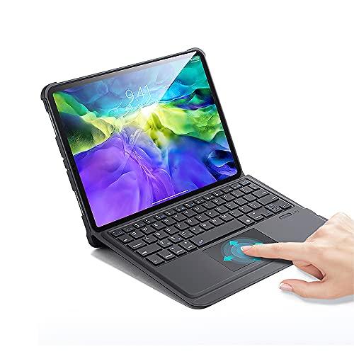 Ewin iPad Air4 10.9インチ キーボード iPad Pro 11インチ キーボード ケース タッチパッド搭載 Bluetoothキーボード 脱着式 ペン収納 オートスリープ スタンド自由調整 iPad air4 10.9/iPad Pro 11インチ第1世代/第2世代対応 外出/在宅ワーク適用 日本語説明書付き(ブラック)