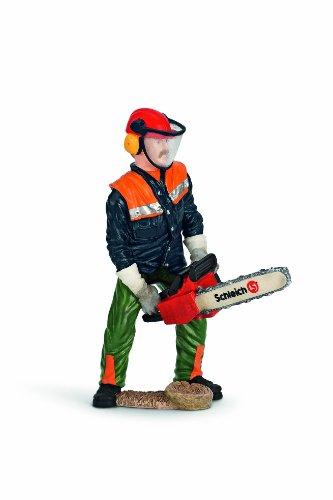 SCHLEICH 13462 - Waldarbeiter mit Motorsäge