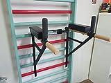 ARTIMEX parallele di Metallo per spalliere - utilizzato in Case, palestre o Centri Fitness per Allenamento e Fitness, codice 270-Nero
