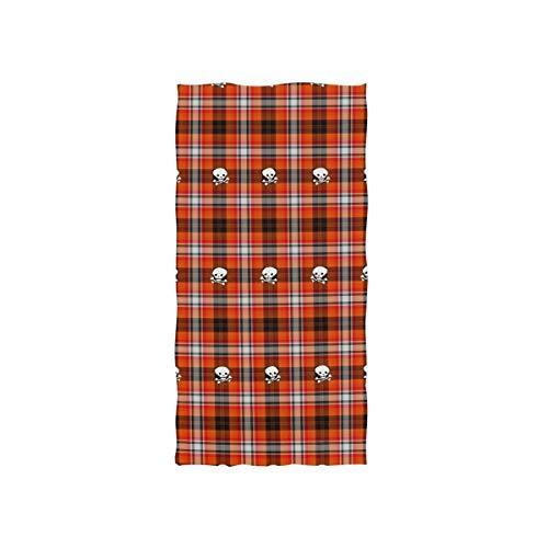 FANTAZIO Serviette de Toilette en Coton de qualité supérieure Motif écossais Rouge