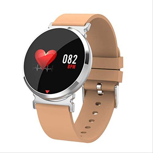 POKQHG Hardslagmeter, Slimme Horloge Mannen Stappenteller calorieën Fitness Sport Horloge Bloeddruk Zuurstof Activa Tracker Reloj Hombre, Bruin