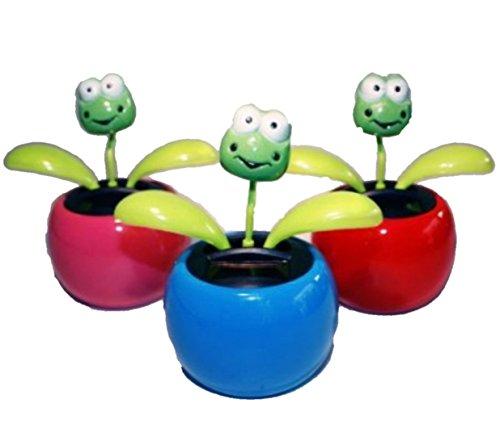 HAAC 2er Set Solar Wackelblume Blume Motiv Frosch
