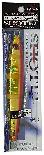 シャウト(shaut!) メタルジグ ショーテル 200g レッドゴールドピンクゼブラ #51(RGPZ) 139SO ルアー