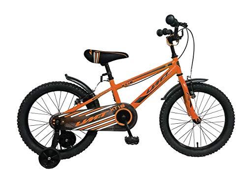 "Ümit BICICLETAT 18"" XT18 Bicicleta, Juventud Unisex, Naranja, Mediano"